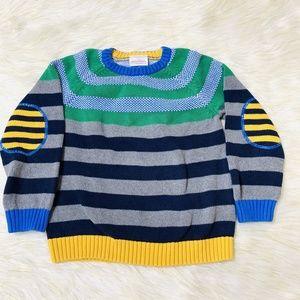 Hanna Anderson Boy's Sweater Size 120 Stripe Blue